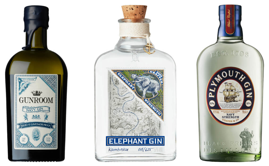 navy strength gin sorte